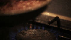Cutlets fried in a pan Stock Footage