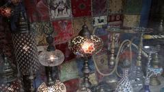Hookah in souvenir shop in Turkey Stock Footage
