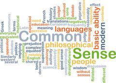 Common sense background concept - stock illustration