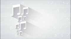 Music notes Video animation Arkistovideo
