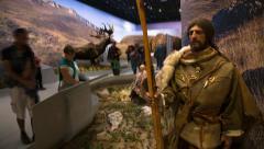 Aurignacian gallery , Pont d'Arc cavern museum Stock Footage