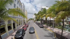 The famous Clevelander hotel in Ocean Drive Stock Footage