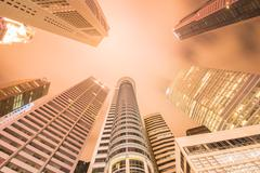 Singapore - AUGUST 4, 2014: Office buildings on August 4 in Sing - stock photo