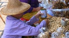 Street Market in Mae Sai, Thailand Stock Footage