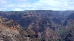 Waimea Canyon from Kalalau Lookout, Kauai, Hawaii Stock Footage