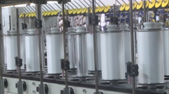 Textile industry reels close Stock Footage