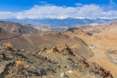 Stock Photo of Viewpoint at the mountain road in Leh