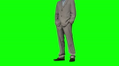 Stock Video Footage of Businessman standing with hands in pockets