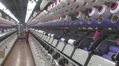 Workers In The Textile Industry Stock Footage