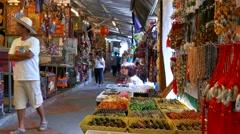 Market in Mae Sai, Thailand Stock Footage