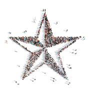 people in the shape of a star - stock illustration
