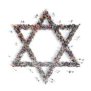 People in the form of a Jewish star Stock Illustration