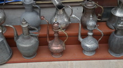Souvenir homemade wares for tourists in Istanbul Stock Footage