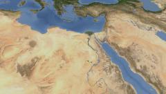 Egypt on maps - Do It Yourself as you like. Neighbourhood Stock Footage