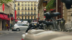 Tabac and Velib Stock Footage
