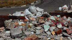 Building debris. Waste recycling. Stock Footage