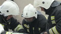 SEVASTOPOL,CRIMEA/RUSSIA-firefighter basic first aid training 3 Stock Footage