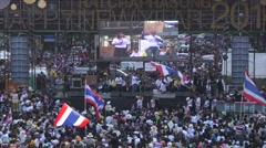 Protesters Shutdown Bangkok Stock Footage