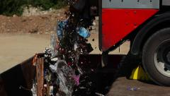 Machine empties the trash. Stock Footage
