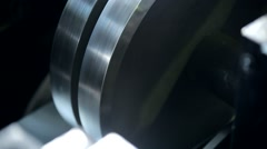 Rolling Mill at an Industrial Plant Bends Sheet Metal Stock Footage