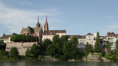 Basel Cathedral - stock footage