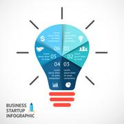 Vector light buble infographic. Template for circle diagram, graph, presentation - stock illustration