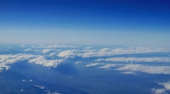4k aerial shot clouds airplane beautiful landscape weather background fly above Stock Footage