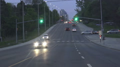 Driving in the city early evening - stock footage
