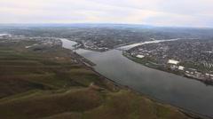 Aerial Lewiston/Clarkston valley Stock Footage