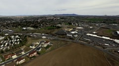 Aerial of Pullman, WA Stock Footage