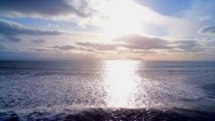 Beautiful footage of seascape against sky during sunset - stock footage