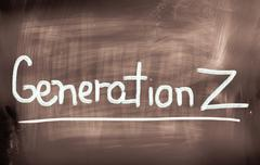 Generation Z Concept Stock Illustration