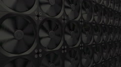Cooling system made of many fans. Stock Footage