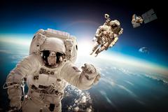 Stock Photo of Astronaut in outer space