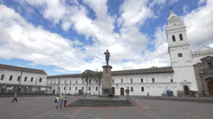 The Statue of Marshal Mariscal Sucre in Quito,Ecuador Stock Footage