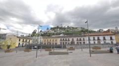 Boulevard 24 de Mayo in Quito, Ecuador Stock Footage