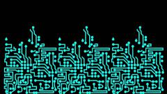 Stock Video Footage of PCB Printed Circuit Board Chip
