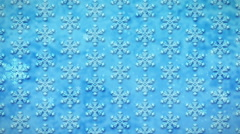 White Snowflakes on a Blue, Loopable Seamless Motion Background - stock footage