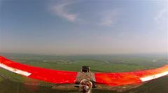 Plane  drone flight  in air . POV  clip   Stock Footage