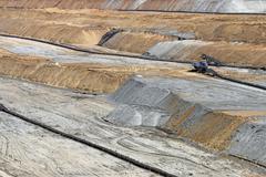 open pit coal mine industry zone - stock photo