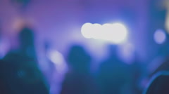 Anonymous People Music Fans Dancing Disco Lights Concert New Year Party Night - stock footage