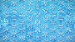 White Snowflakes on a Blue, Loopable Seamless Motion Background Stock Footage
