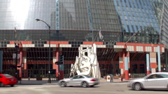 Monument with Standing Beast (Snoopy in a blender) . Chicago Stock Footage