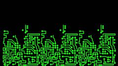 PCB Printed Circuit Board Chip Stock Footage