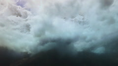 Ocean water crashing from underwater splash Stock Footage