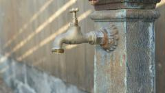 Dripping Tap Old Faucet Fountain Stock Footage