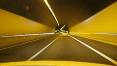Highway Rage Camera Car Driving at High Speed Stock Footage