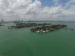 Venetian Islands Miami Beach aerial image Stock Photos