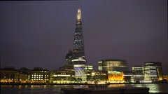 The Shard, London, UK - stock footage