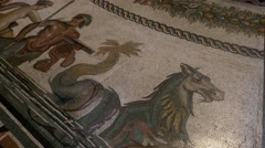 Stock Video Footage of 4k mosaic detail on roman church rome empire ancient art